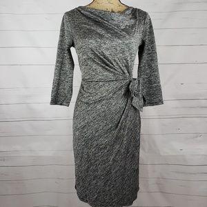 Heather Gray Ann Taylor Wrap Dress w/ 3/4 Sleeves